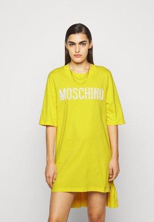 DRESS - Žerzejové šaty - yellow