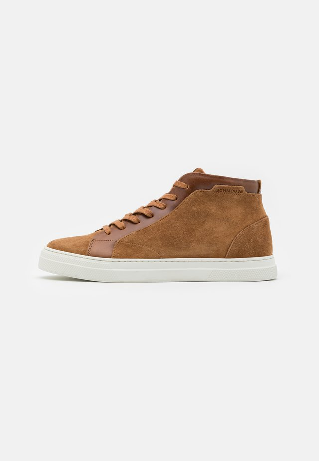 SPARK MID - High-top trainers - cognac/camel