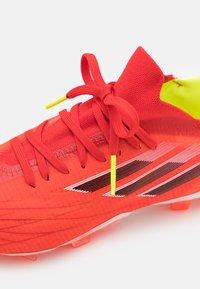 adidas Performance - X SPEEDFLOW.1 FG UNISEX - Kopačky lisovky - red/core black/solar red - 5
