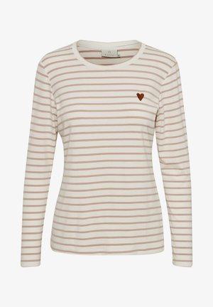 LIDDY - T-shirt à manches longues - chalk / peach beige