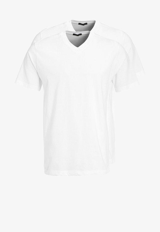 AMARICAN 2 PACK - Pyjama top - white