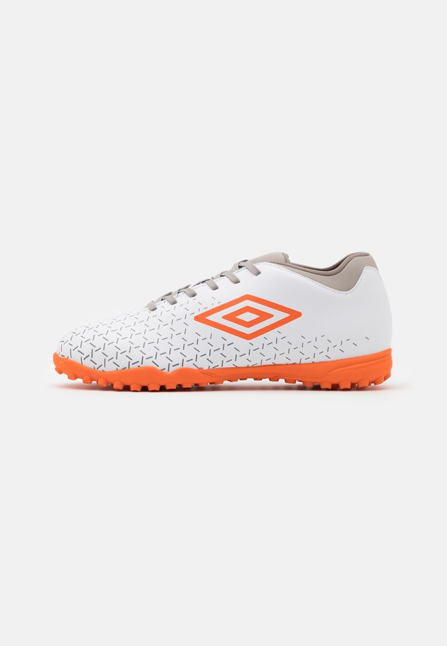 VELOCITA V CLUB TF - Korki Turfy - white/carrot/frost gray