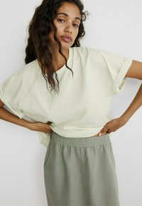 Massimo Dutti - SPORTLICHER - A-line skirt - khaki - 1