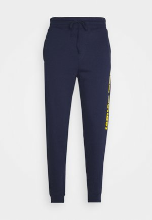V-EXL FAMILY MOMENT LOGO JOGGER - Tracksuit bottoms - navy uniform