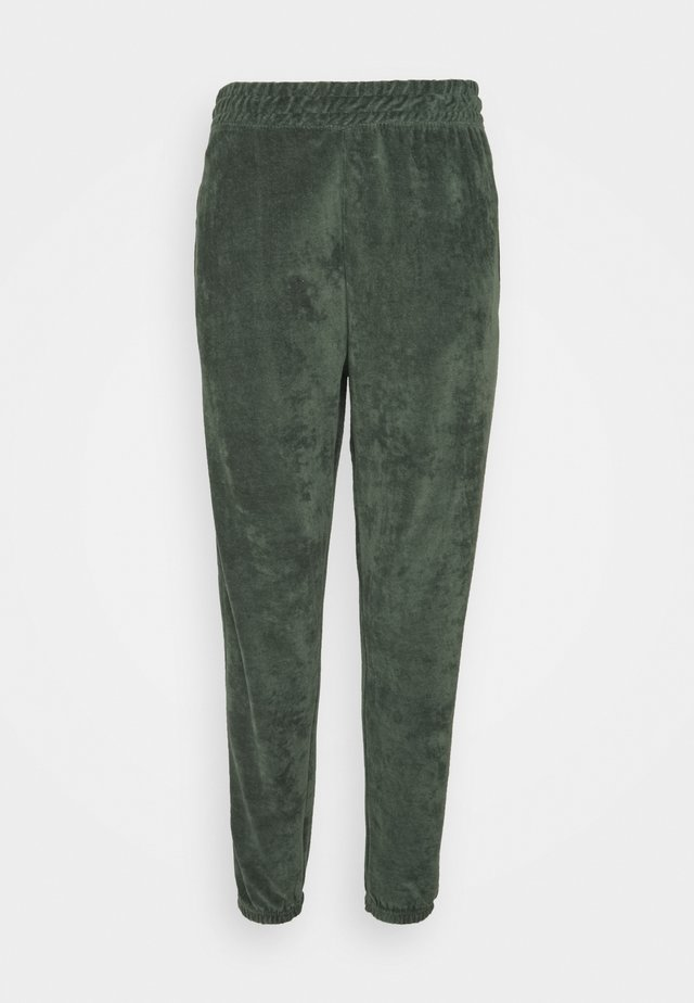 CUFFED JOGGERS - Tracksuit bottoms - green