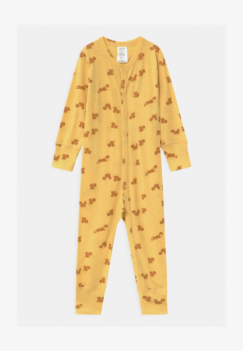 Lindex - ONESIES BABY SQUIRREL UNISEX - Pyjamas - dusty yellow