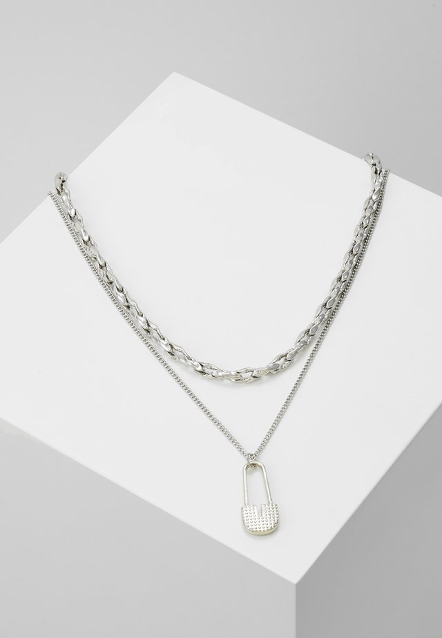 SAFETY PIN CHAIN 2 PACK  - Collar - silver-coloured