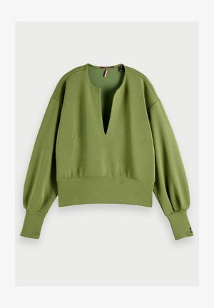 VOLUMINOUS SLEEVED - Sweatshirt - military