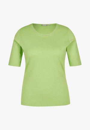 MIT UNIFARBENEM STOFF UND RUNDHALSAUSSCHNITT - Print T-shirt - green