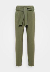 ONLY - ONLCAROLINA BELT PANTS - Trousers - deep lichen green - 0