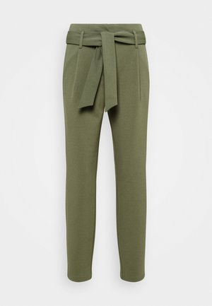 ONLCAROLINA BELT PANTS - Trousers - deep lichen green