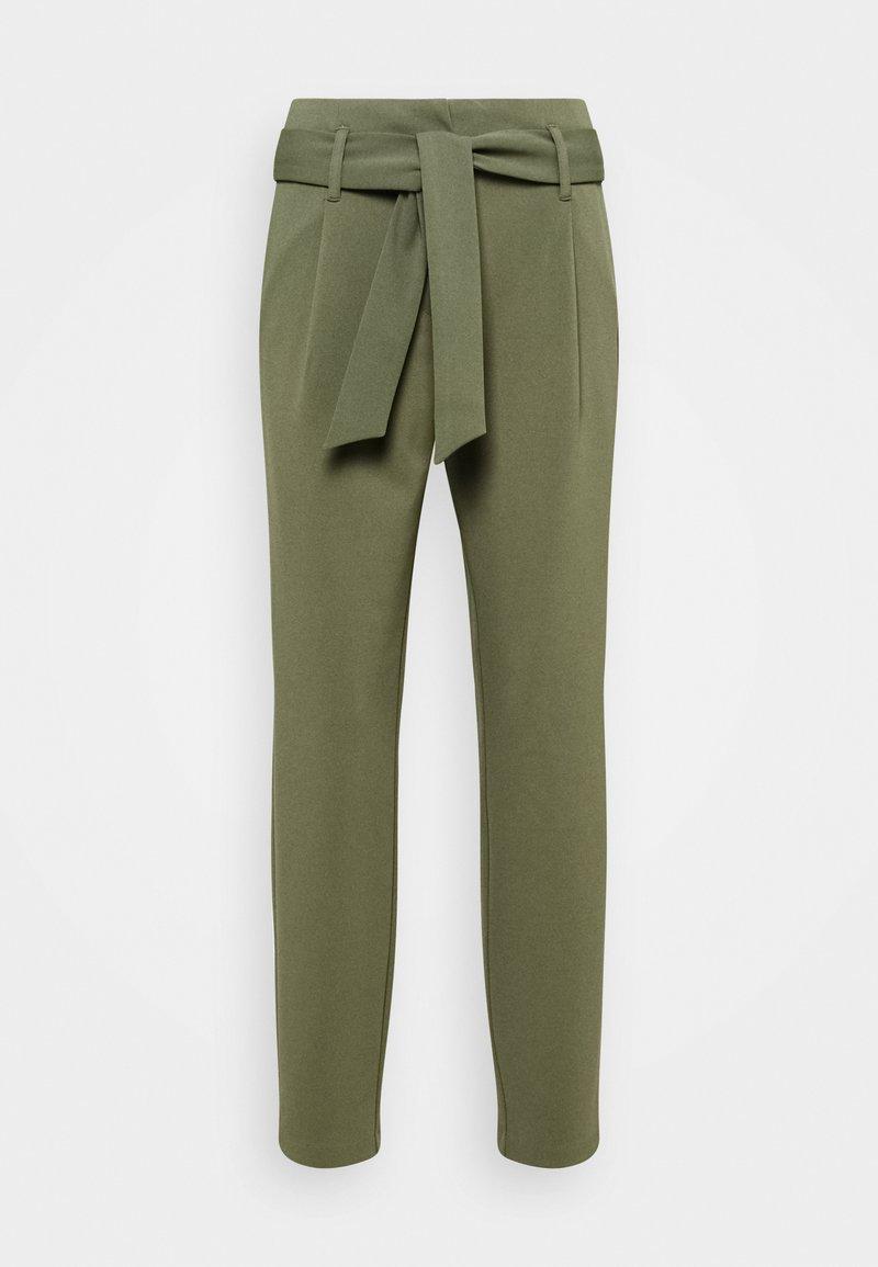 ONLY - ONLCAROLINA BELT PANTS - Trousers - deep lichen green