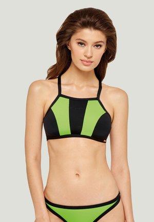 AIR-MESH BIKINI TOP - Bikinitop - green/black