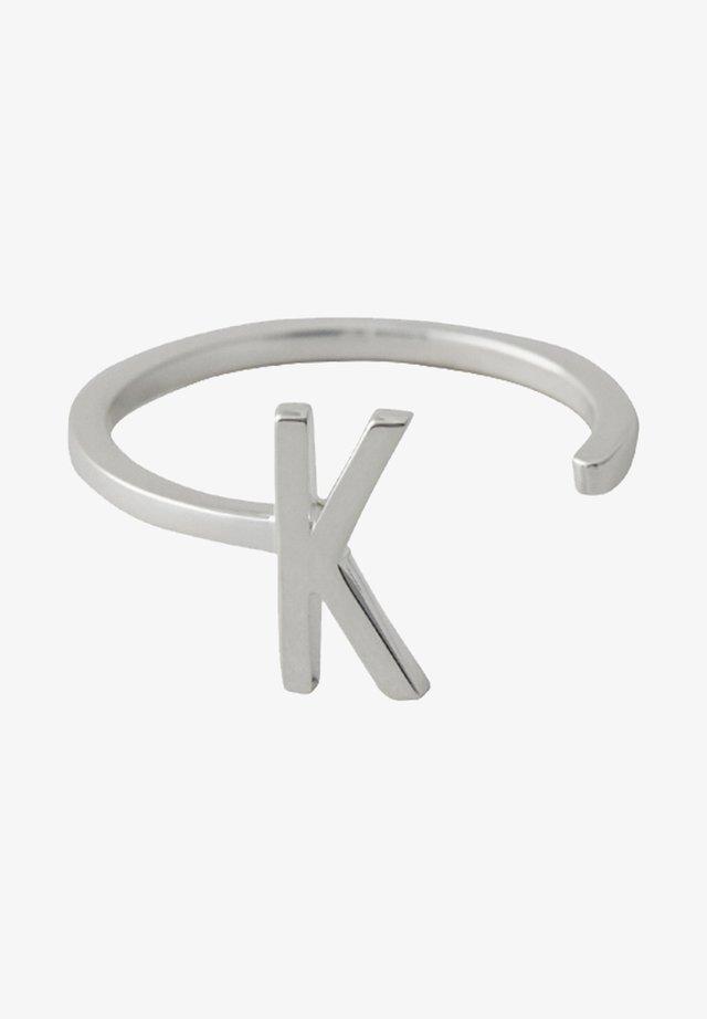 RING K - Ringe - silver