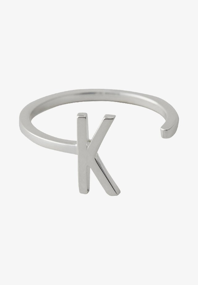 RING K - Ring - silver