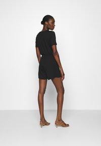 Anna Field - BASIC - SHORT SLEEVES DEEP V PLAYSUIT - Jumpsuit - black - 2