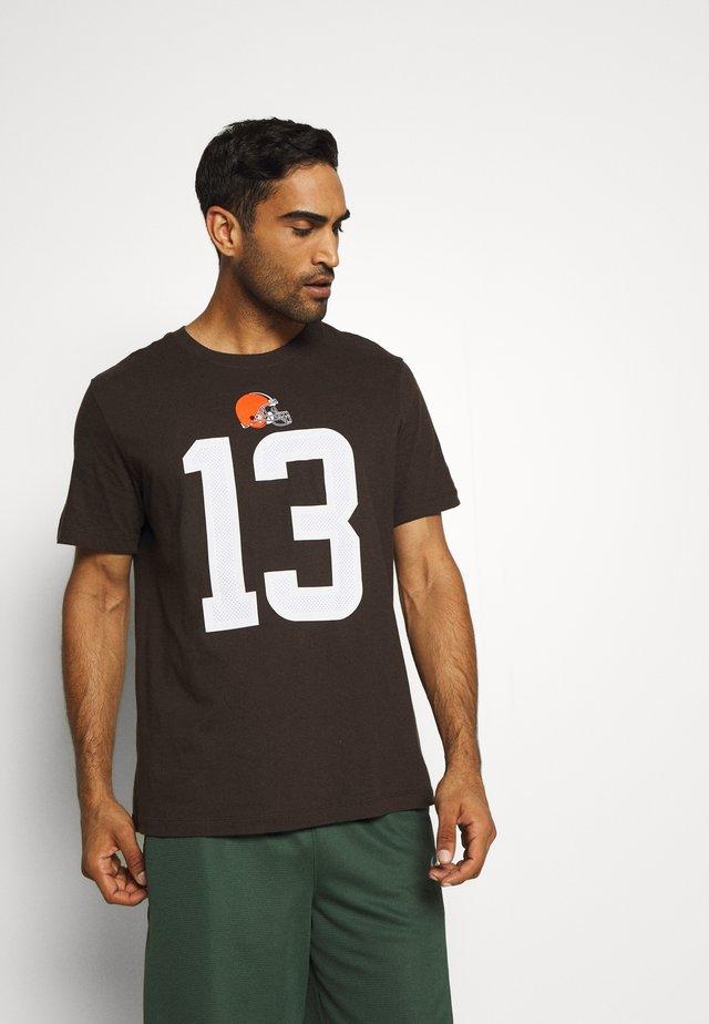 NFL CLEVELAND BROWNS PLAYER ESSENTIAL BECKHAM JR - Klubové oblečení - brown