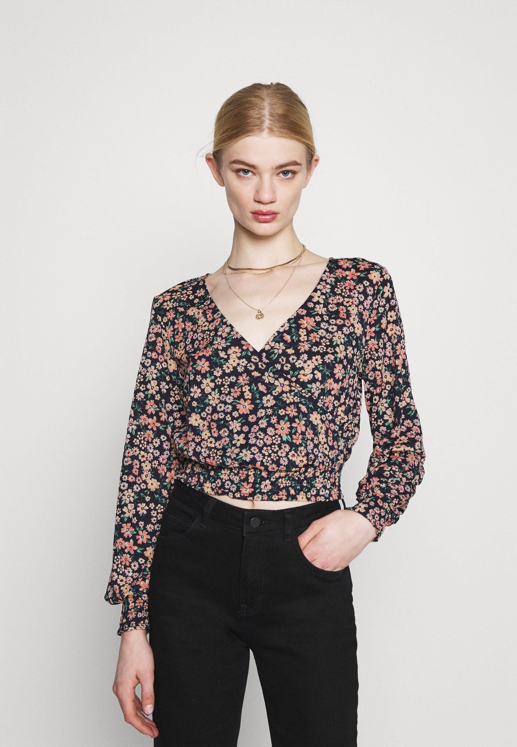 Women ONLPELLA WRAP SHORT - Long sleeved top