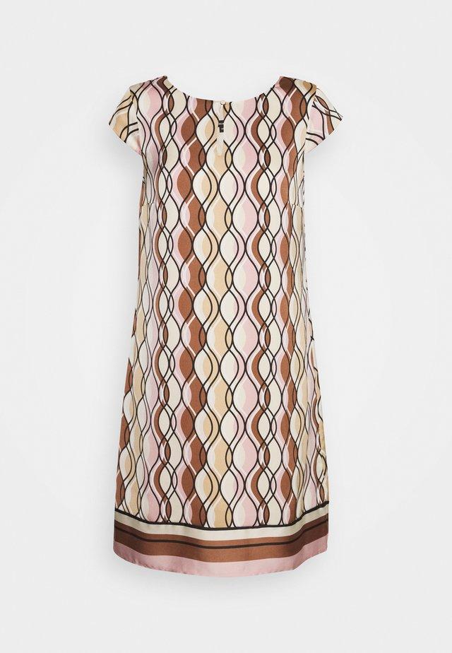 DRESS SHORT - Robe d'été - powder creme/multicolor