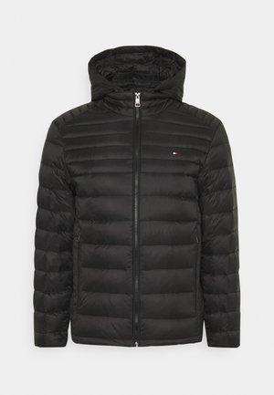 PACKABLE HOODED JACKET - Down jacket - black