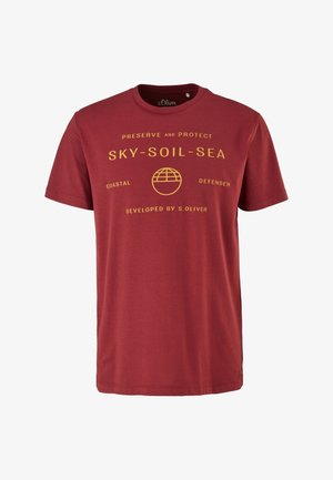 STATEMENT - Print T-shirt - bordeaux sky print