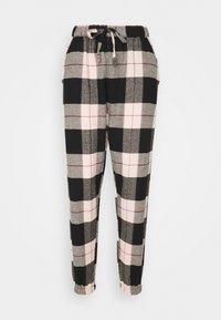 Hunkemöller - PANT CHECK CUFF - Pyjama bottoms - black - 0