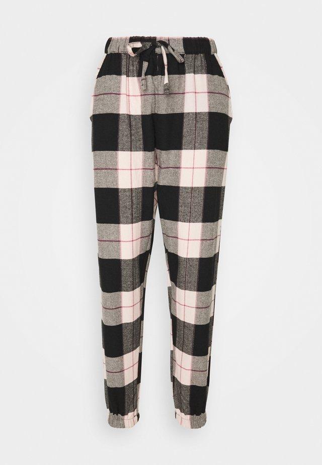 PANT CHECK CUFF - Pyjamahousut/-shortsit - black