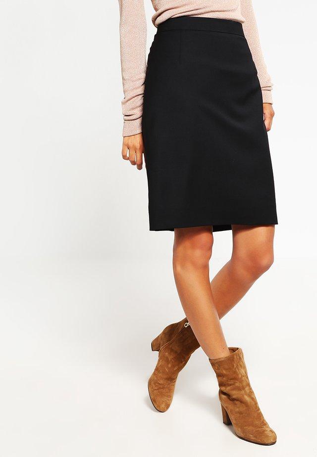 COOL - Áčková sukně - black