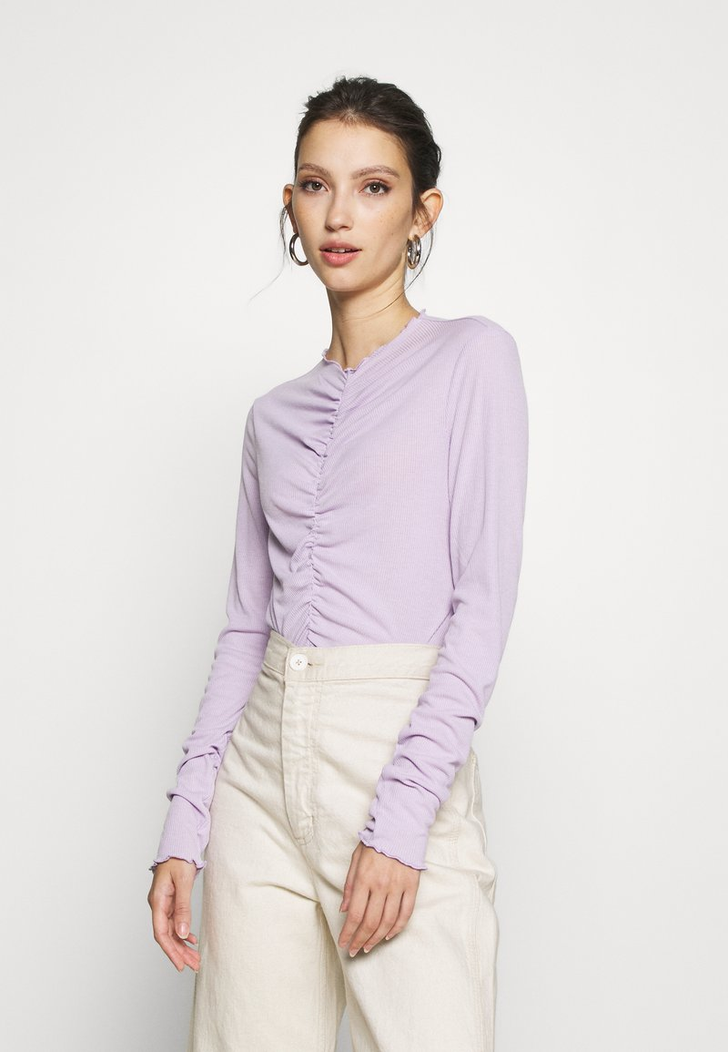 Monki - RUCHIE - Long sleeved top - solid lilac