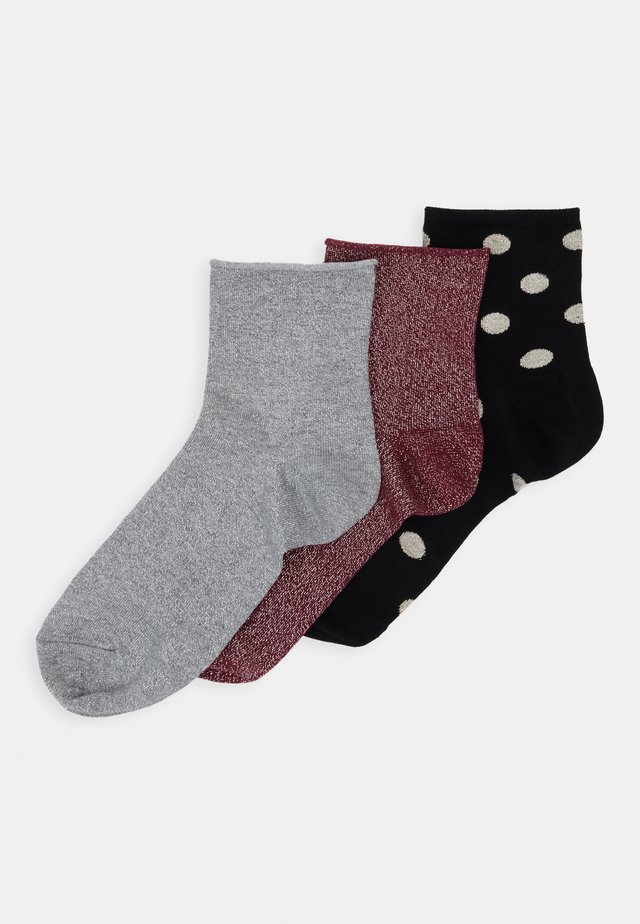 LIMITED EDITION GIFT BO 3 PACK - Chaussettes - burgundy/black/grey