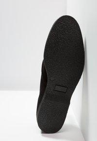 Pier One - LEATHER - Zapatos con cordones - black - 4