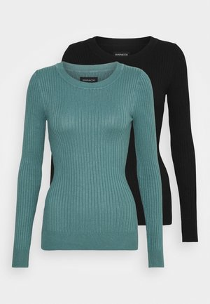 2 PACK - Jumper - black/turquoise