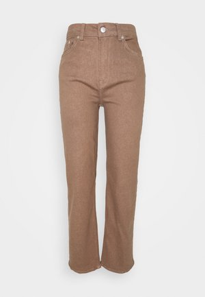 SLFMARY STRAIGHT PANTS - Slim fit jeans - pine bark