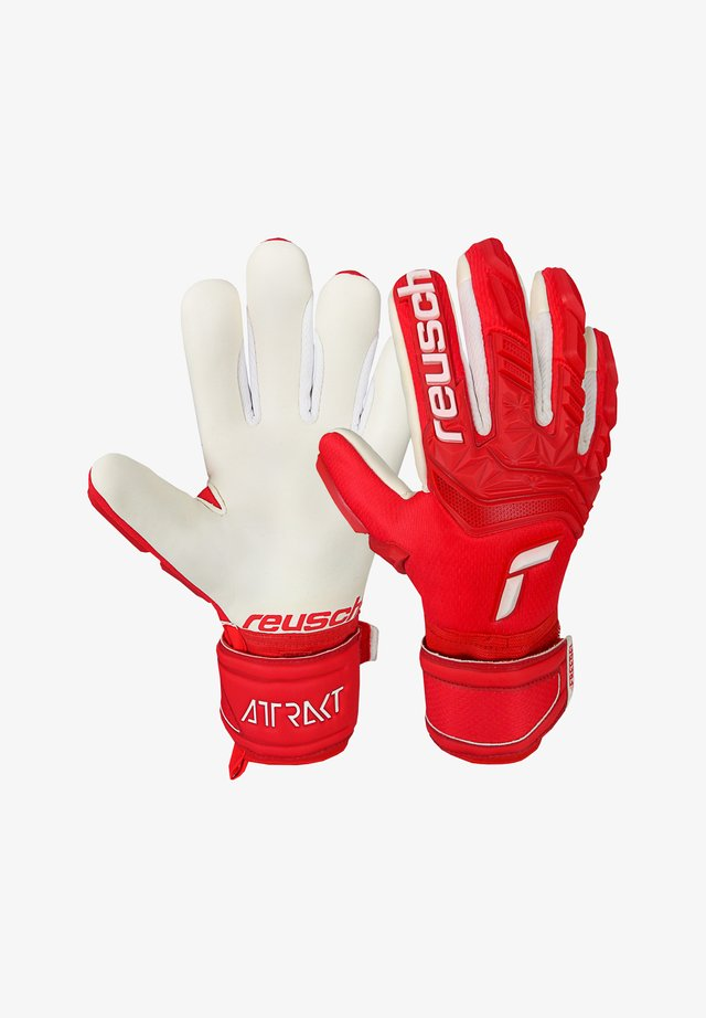 ATTRAKT FREEGEL TW JUNIO - Goalkeeping gloves - rotweiss