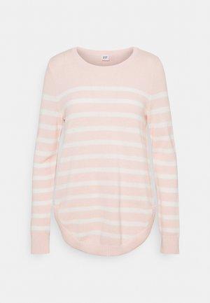 CURVE HEM CREW - Strickpullover - pink
