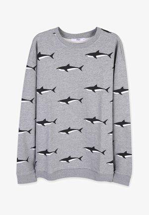SHARK - Sweatshirt - light grey