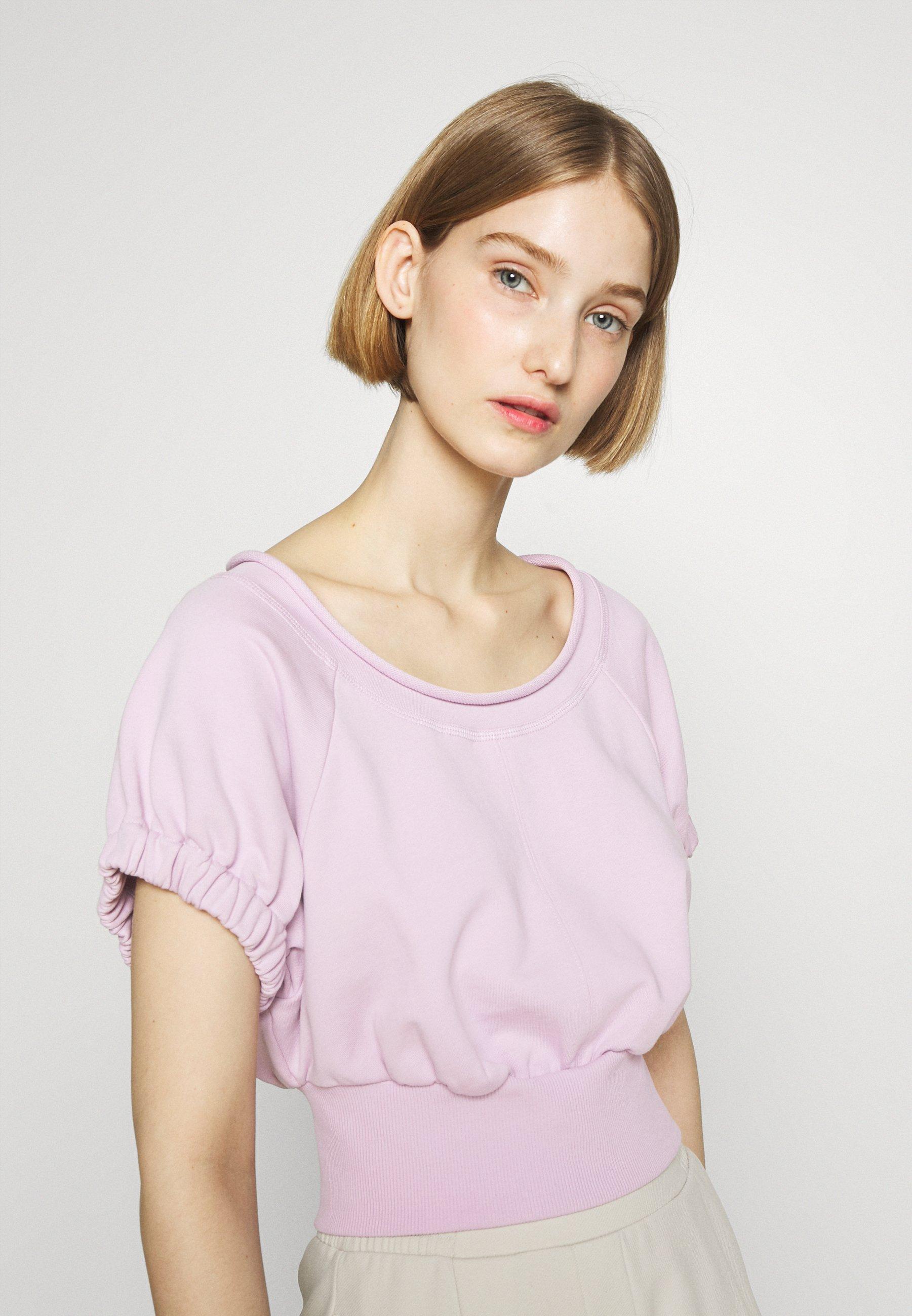 Women SHIRRED BALLERINA NECK FRENCH TERRY  - Sweatshirt