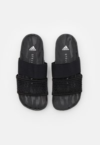adidas by Stella McCartney - ASMC LETTE - Chanclas de baño - core black/footwear white - 3