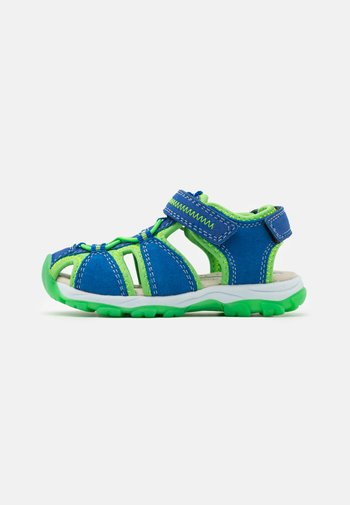 LEATHER - Walking sandals - blue