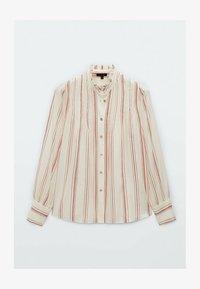 Massimo Dutti - Button-down blouse - beige - 3