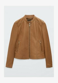 Massimo Dutti - Leather jacket - brown - 3