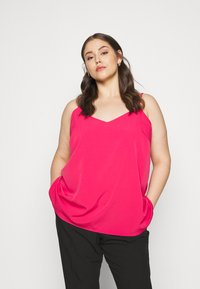 CAPSULE by Simply Be - STRAPPY CAMI - Top - fuschia - 0