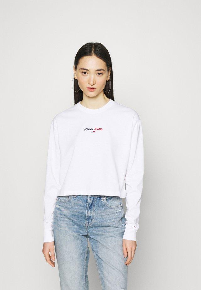 BADGE LONGSLEEVE - Maglietta a manica lunga - white