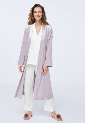 Long mauve velvet - Dressing gown - mauve