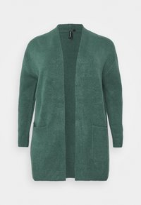 CAPSULE by Simply Be - COSY EDGE TO EDGE CARDIGAN - Cardigan - deep teal - 0