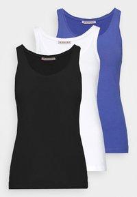 3 PACK - Top - black/white/light blue