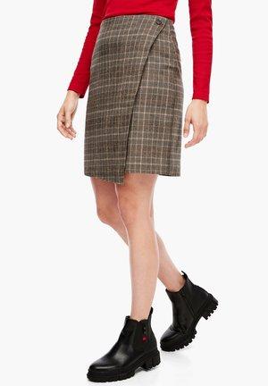 A-line skirt - brown check
