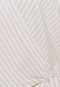 Abercrombie & Fitch - PREPPY WRAP - Blouse - green/gorunded stripe - 2