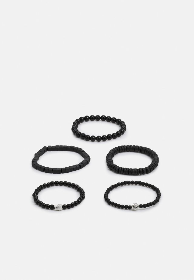 BEAD MIX 5 PACK - Armband - black