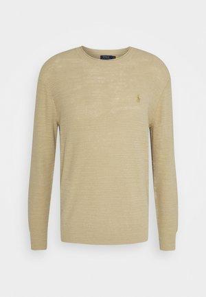 COTTON-LINEN ROLLNECK SWEATER - Stickad tröja - coastal beige